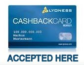 We accept cashback card
